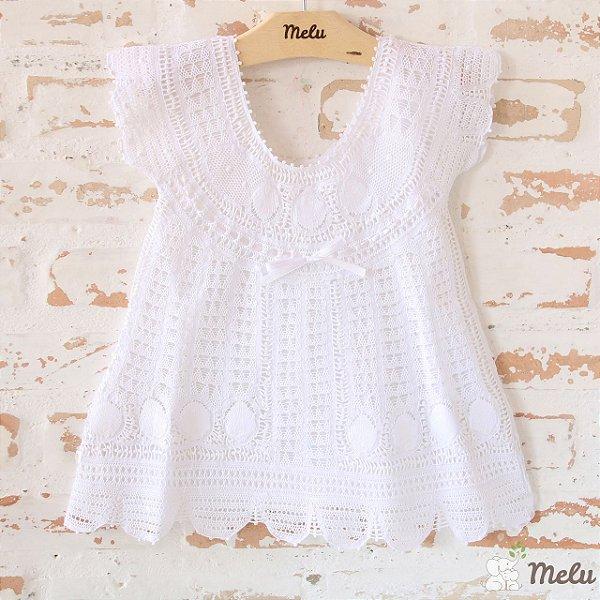 Vestido de Renda Renascença - Alice - 9 a 12 meses