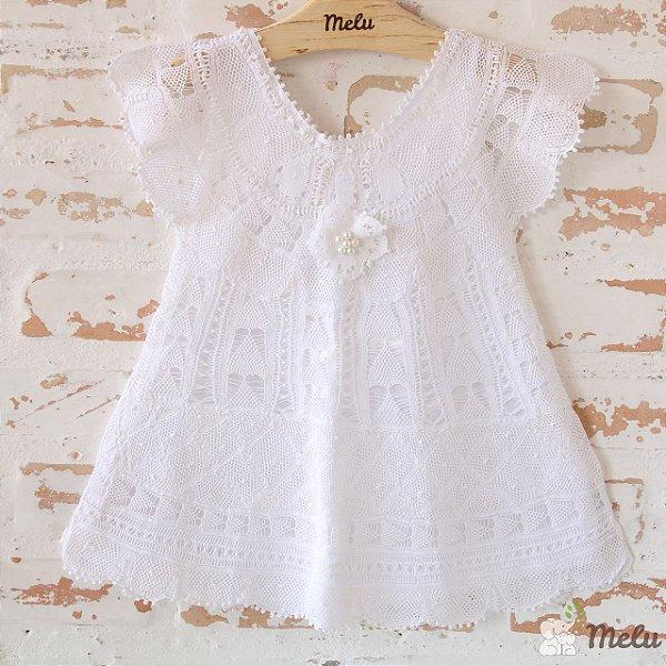 Vestido de Renda Renascença - Giovana - 9 a 12 meses