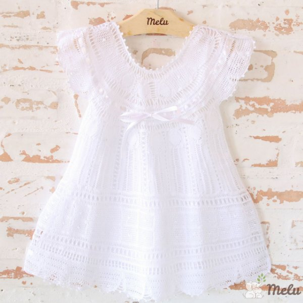 Vestido de Renda Renascença - Manu - 9 a 12 meses
