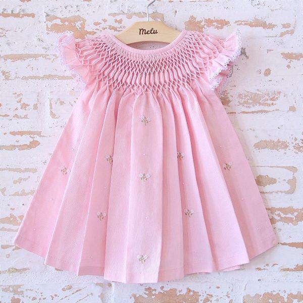 Vestido Casinha de Abelha - Rosa