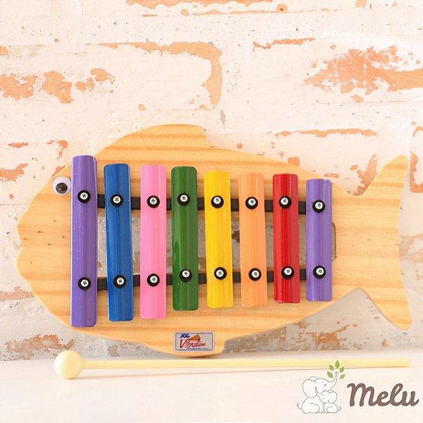 Metalofone Infantil 8 teclas - Peixe