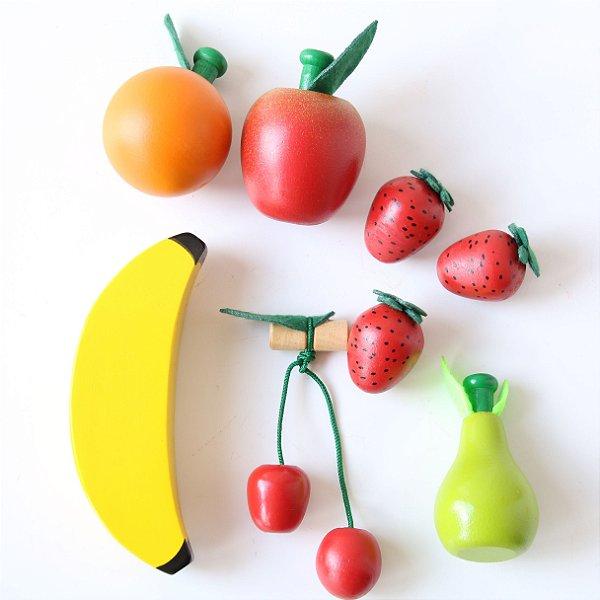 Coleção Comidinhas - Kit Frutinhas sem Corte