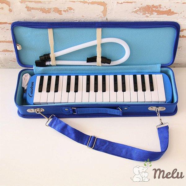 Escaleta Musical Custom - 32 Teclas Cor Azul com Estojo