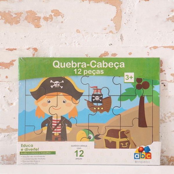 Quebra-Cabeça Pirata Jack - 12 Peças