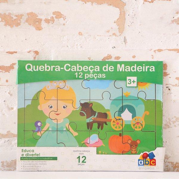 Quebra-Cabeça Cinderela - 12 Peças