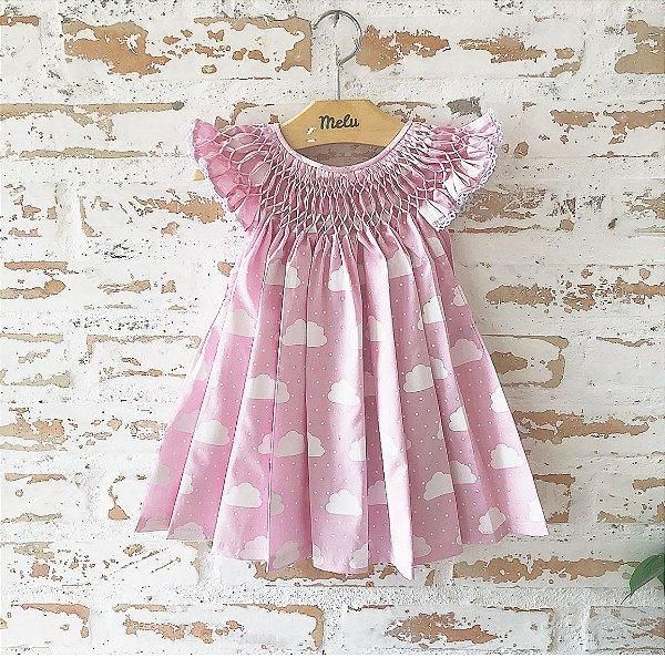 Vestido Casinha de Abelha - Chuva de benção - rosa
