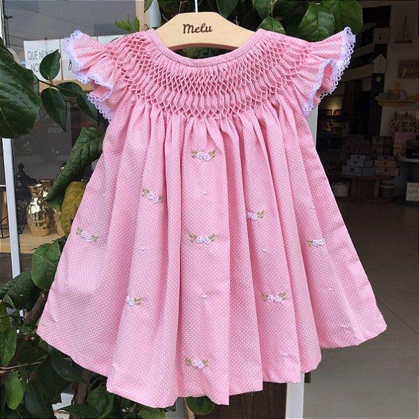 Vestido Casinha de Abelha - Rosa de poá