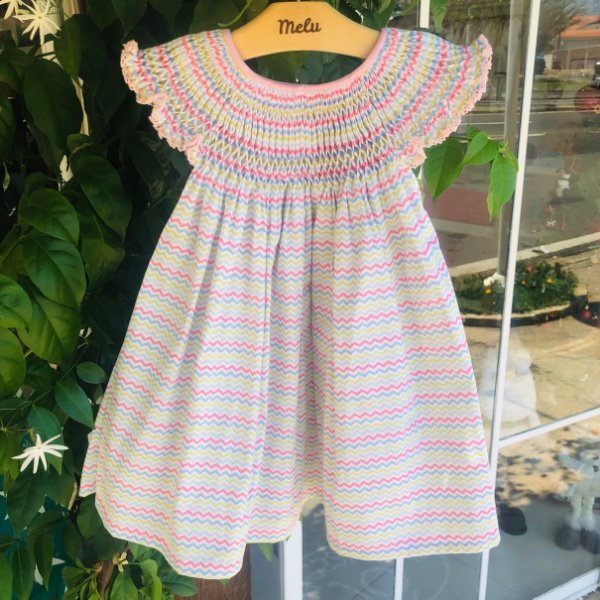 Vestido Casinha de Abelha - Chevron Colorido