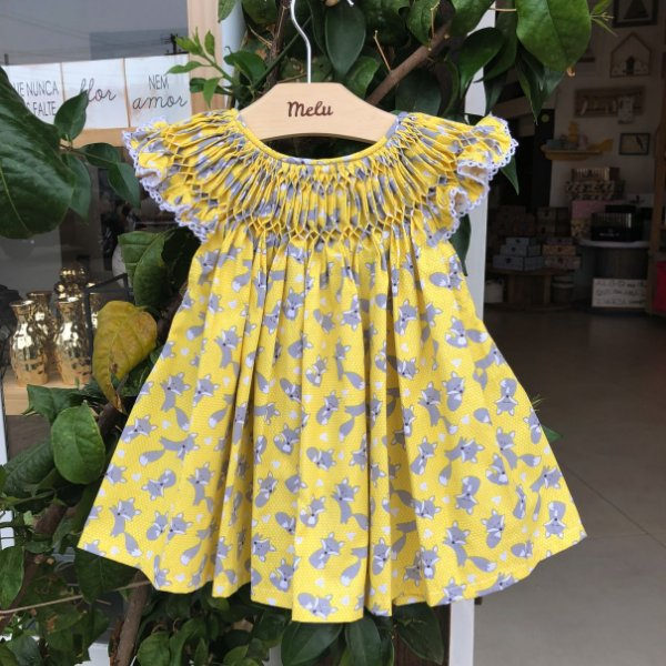 Vestido Casinha de Abelha - Raposinha