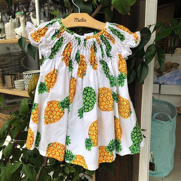 Vestido Casinha de Abelha - Abacaxi