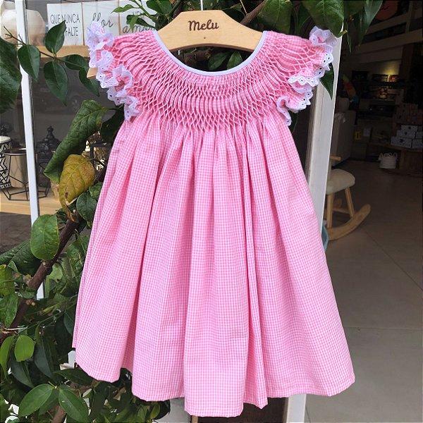 Vestido Casinha de Abelha - Rosa Xadrez