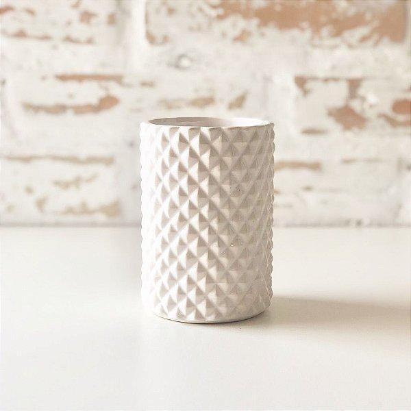 Vaso de cerâmica branco 11 x 7.5cm