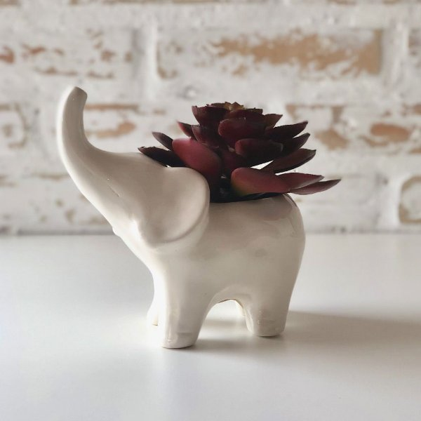 Cachepot em cerâmica - Elefante