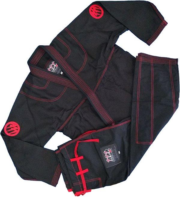Kimono Preto 777 - Bordado
