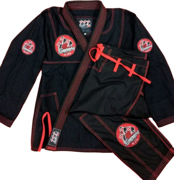 Kimono Preto 777 - Patches