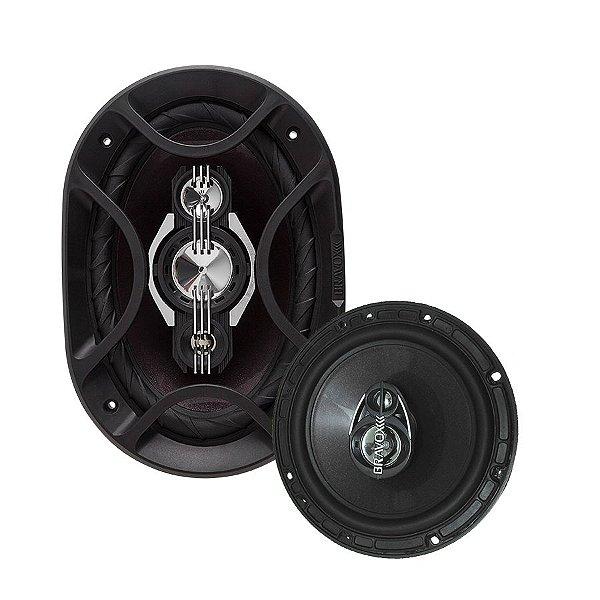 Kit alto falante Bravox premium triaxial (B4X69 P + TR6 P)