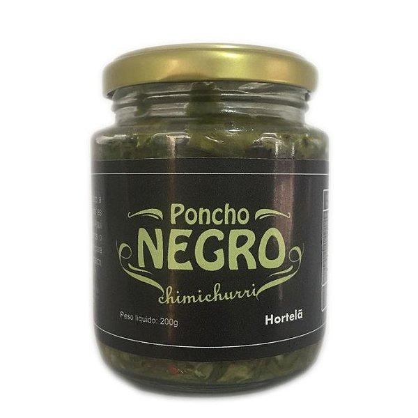 Chimichurri Poncho Negro - Hortelã