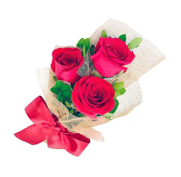 Trio de Rosas Vermelhas