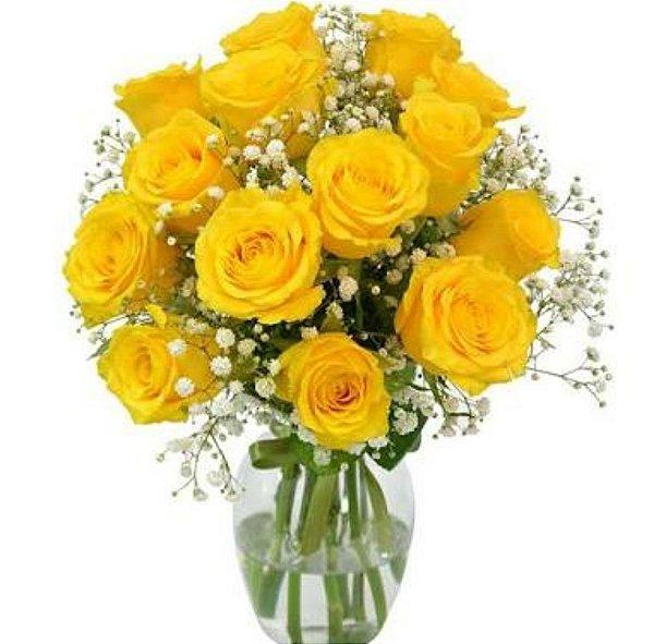 Arranjo Luz do Sol amarelo - Dia das Mães
