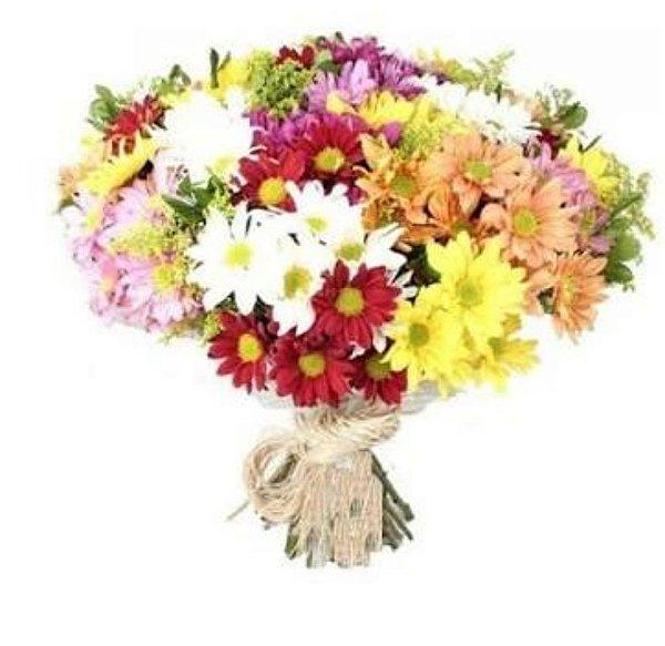 Buquê de Margaridas Coloridas Simplesmente - Dia das Mães