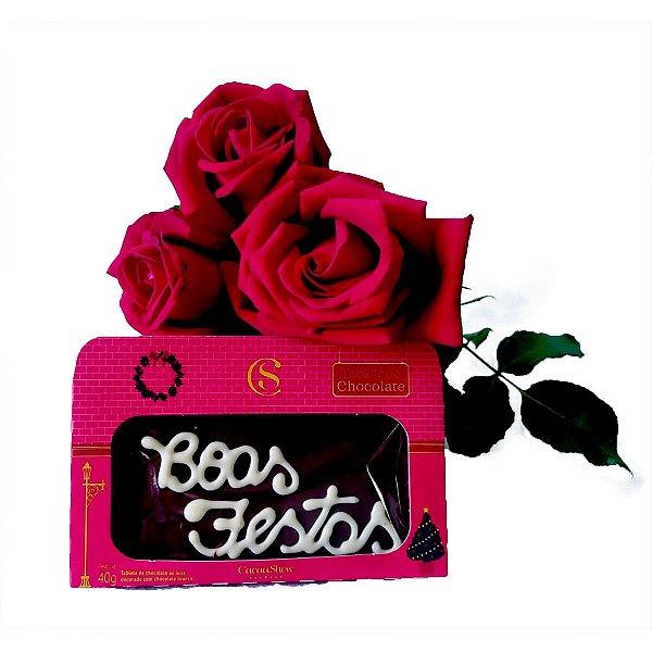 Rosas Vermelhas + Chocolate Cacau Show