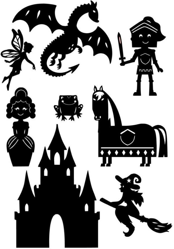 Contos de Fada - personagens para Teatro de Sombras