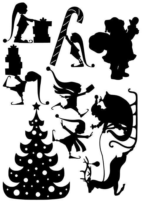 A Fábrica do Papai Noel - Personagens para Teatro de Sombras