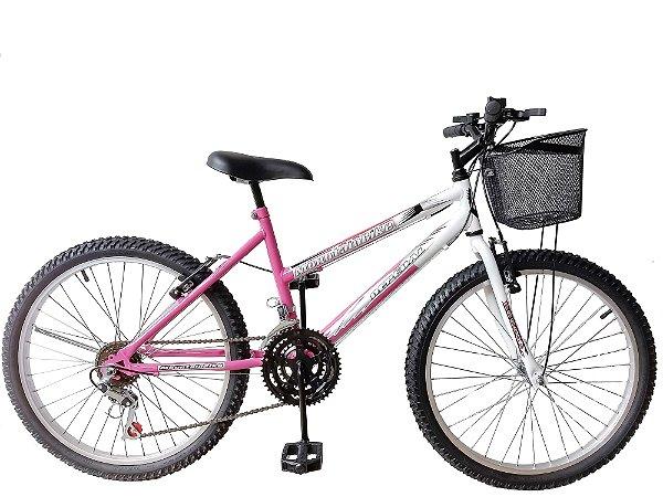 Depedal Mountain Bike 24 Feminina - ROSA