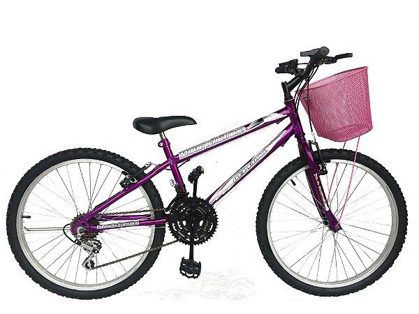 Depedal Mountain Bike 24 Feminina - VIOLETA