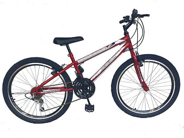 Depedal Mountain Bike 24 AERO - VERMELHA