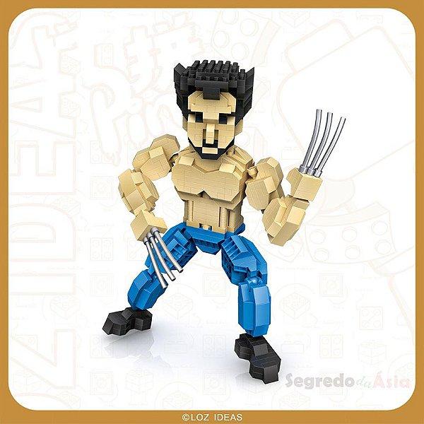 Mini Bloco De Montar LOZ Wolverine Original