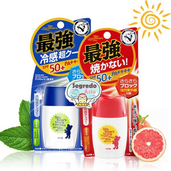 Protetor Solar Japonês OMI Sun Bears SPF50+ Pa++++