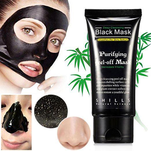 Máscara Facial Preta Peel Off Removedor De Cravos Black Mask Shills 50ml
