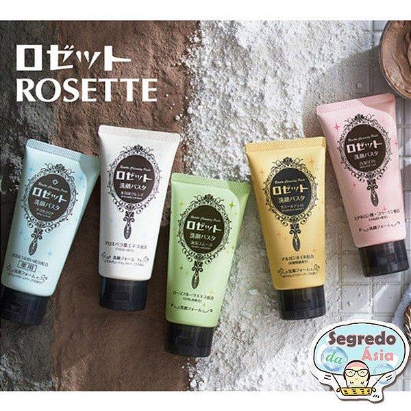Espuma de Limpeza Facial Japonesa Rosette Cleansing Paste Cosme Lama Do Mar Hidrata Clareia Anti Sebo Cravo Acne Espinha 120g