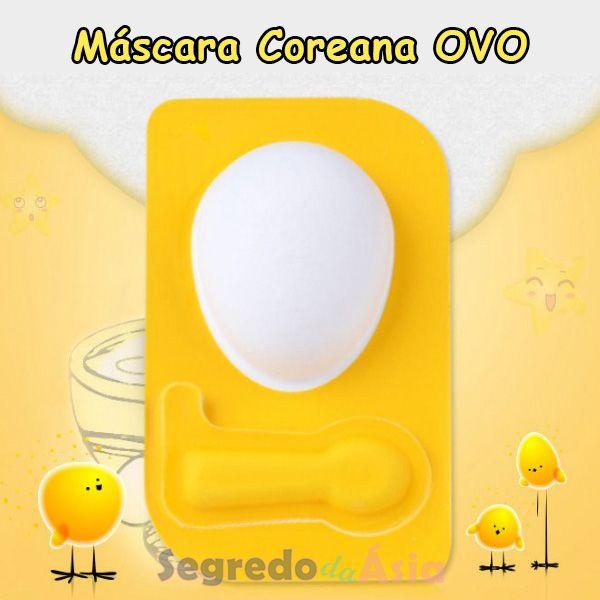 Máscara Facial Coreana Ovo Egg Mask