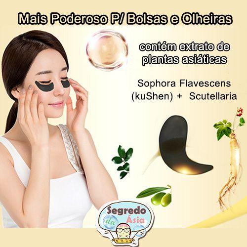 Máscara Para Olheira Colágeno Preto P/ Área Dos Olhos 1 Par