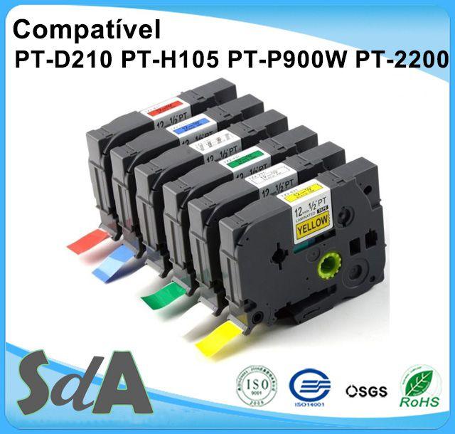Fita Compativel Tze Tz P/ Rotulador Brother PT ST 12mmx8m