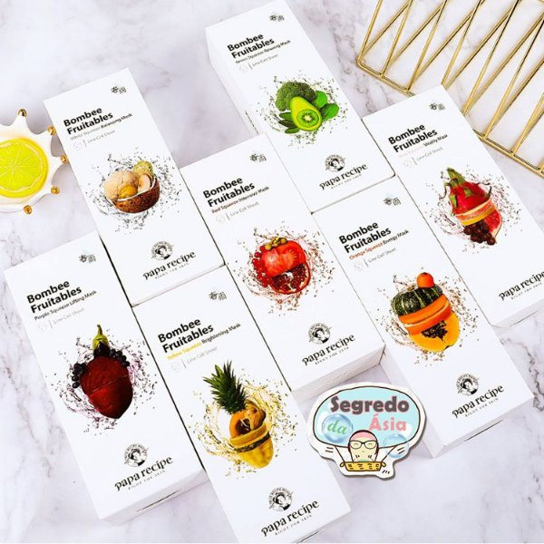 Máscara Facial Coreana Papa Recipe Bombee Fruitables Squeeze Mask 25g