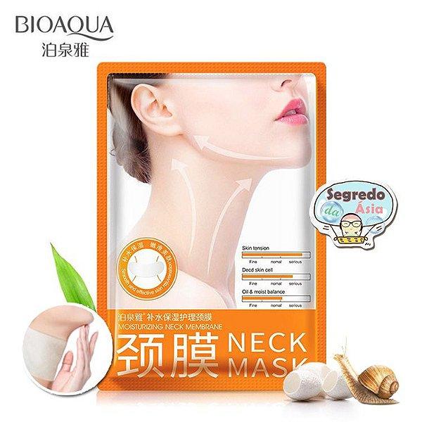 Máscara Importada Cuidado Pescoço Bioaqua Nutrição Rejuvenescimento Anti Idade