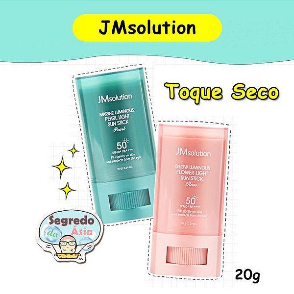 Protetor Solar Coreano Jmsolution Light Sun Stick SPF50+ PA++++ Impermeável Rosto Corpo Toque Seco 20g