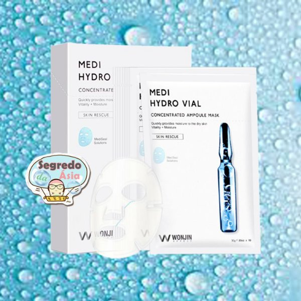 Máscara Facial Coreana Wonjin Effect Hydro Vial Concentrated Ampoule Mask 30g