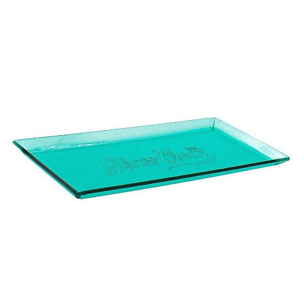 Bandeja de acrílico Glass Crew - Verde água