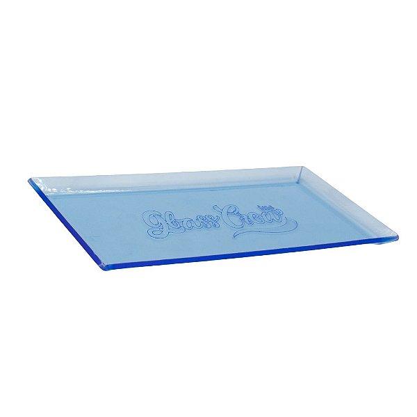 Bandeja de acrílico Glass Crew - Azul