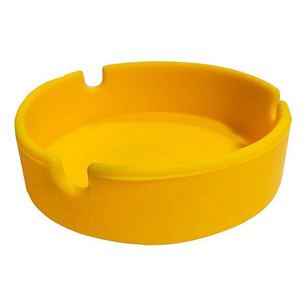 Cinzeiro Silicone Redondo - Amarelo
