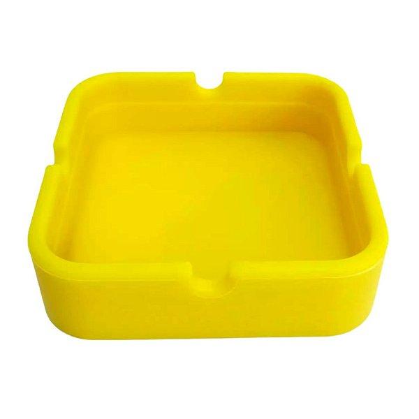 Cinzeiro Silicone Quadrado -  Amarelo