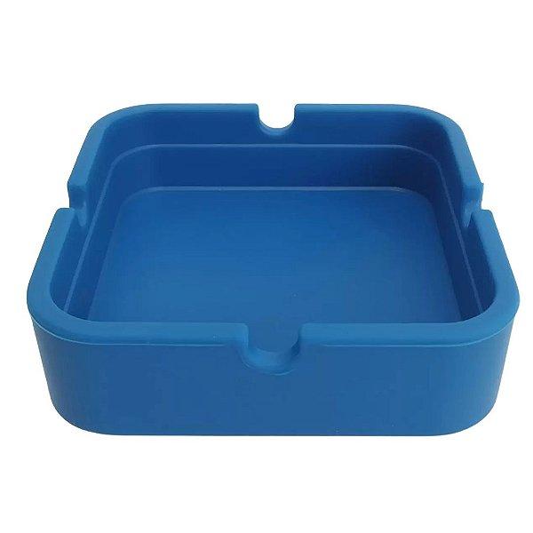 Cinzeiro Silicone Quadrado -  Azul