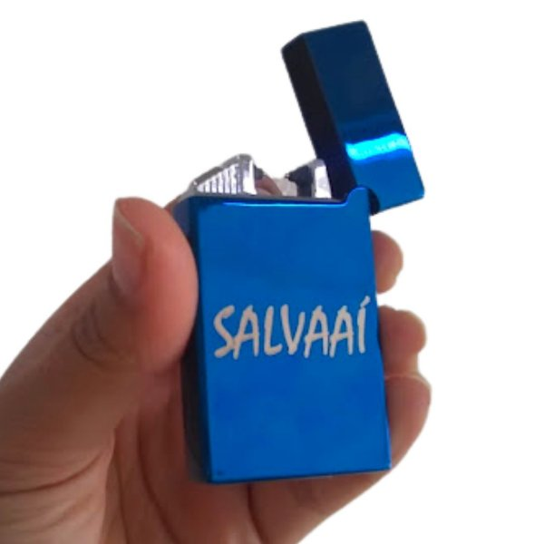 ISQUEIRO ELÉTRICO SALVA AÍ - Azul