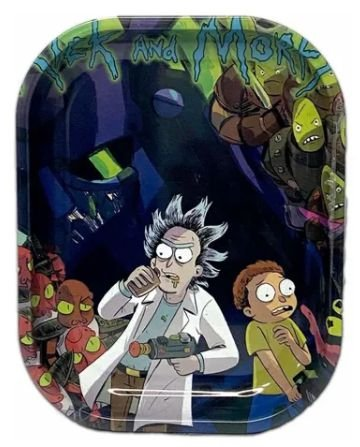 Bandeja metal pequena - Rick e Morty