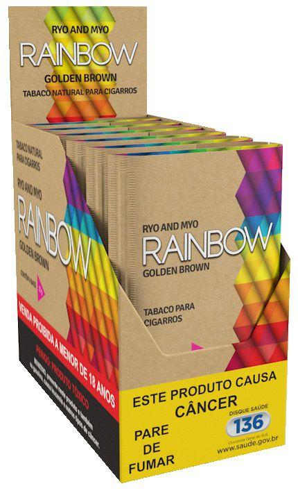 Tabaco para cigarro Rainbow Golden Brown 100% Orgânico Box 6un