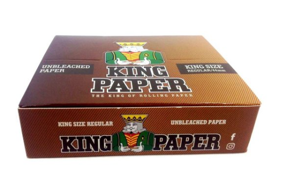 Seda King Paper Unbleached King Size - Display com 20un